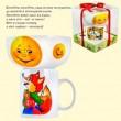 """Интерактивный детский набор, Сказка """"Колобок"""", кружка 380 мл, пиала 600 мл, порцелан.Interactive children's set, Tale """"Kolobok"""", a mug of 380 ml, a bowl of 600 ml, a porcelain"""
