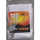 Plastic Forks  100pcs -  Пластмассовые вилки 100шт.