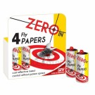 Zeroin Fly Papers 4 Pack - Мухоловки 4 шт.