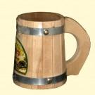 Birch beer mug 0,5 l - Пивная кружка из берёзы 0,5 л