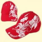 "Cap ""Russia"", red with flower - Кепка ""Россия"", красная, с цветком"