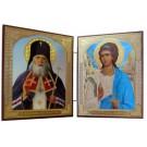 """Икона двойник """"Святой Лука"""" 11.5 cm X 9.5"""