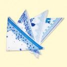 Платок 70х70 см, 50% хлопок, 50% синтетика, синий,