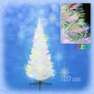 Ёлочка новогодняя белая, пушистая, со световодами в каждой веточке, 120 см