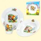"Набор посуды ""Школа"", (кружка 210 мл, тарелка 20 см, тарелка глубокая 20 см), порцелан.A set of dishes ""School"", (a mug 210 ml, a plate 20 cm, a plate deep 20 cm), a porcelain"