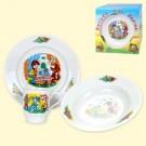 "Набор посуды ""Простоквашино"", (кружка 210 мл, тарелка мелкая 20 см, тарелка глубокая 20 см).Set of dishes ""Prostokvashino"", (mug 210 ml, small dish 20 cm, plate deep 20 cm)"