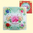 """Многофункциональная стеклянная доска """"Розовый сад"""", из закалённого стекла, 20 х 20 см/Multifunctional glass board """"Rose Garden"""", from tempered glass, 20 x 20 cm"""