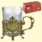 "Подстаканник ""Самому дорогому человеку"" (со стаканом 200 мл).The cup holder "" The most precious person"" (with a glass of 200 ml)"