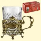 "Подстаканник ""С днем рождения""(со стаканом 200 мл).A cup holder ""Happy birthday"" (with a glass of 200 ml)"