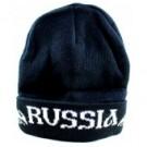 "Шапка зимняя ""Россия"" бело-чёрная, 100 % вязанная.Winter hat ""Russia"" is white and black, 100% knitted."